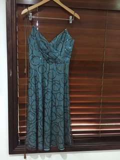 Burcul Ladies formal/wedding silk Dress WORN ONCE RRP $260 Sz 1