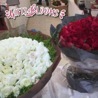 Fresh Flower Bouquet Anniversary Birthday Flower Gifts Graduation Roses Sunfowers Baby Breath -  54730