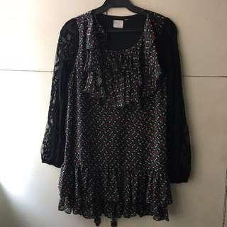 Vintage Dress with Frills