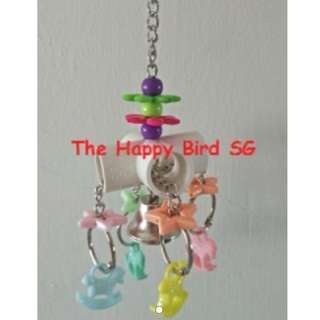 Parrot Bird Pipe Charm Hanging Chew Toy