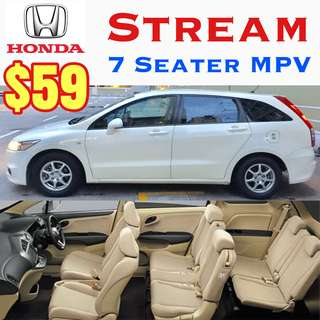 Honda Stream MPV ($59) New Honda Vezel Hybrid Sensing 2017 ($69) ✨Estima MPV($69) ✨Honda Accord($59) ✨Lexus IS250($65) ✨BMW 120i Convertible Cabriolet ($69) ✨Car Rental Leasing Uber Grab Wedding ( Rent Volvo Toyota Mercedes Airport Taxi Cab Transfer)