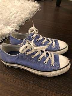 Converse blue women's size 6