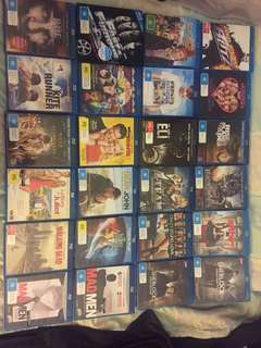 Blu rays for sale or swap