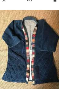 Antique vintage japanese unisex jacket  boro sashiko