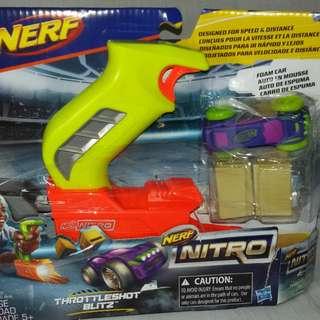 Nerf Nitro ThrottleShot Blitz (green blaster)