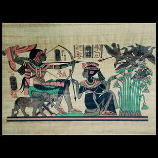 Egyptian Genuine Painting Ancient Egypt Papyrus