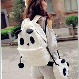 Panda back & sling bag set