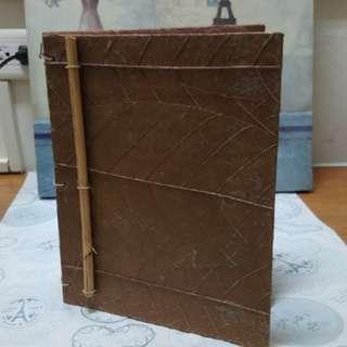 竹與葉手工筆記本