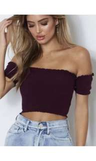 Whitefox Boutique Off The Shoulder Crop XS