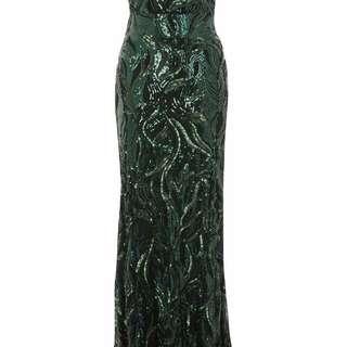 BNWT GREEN PROM DRESS