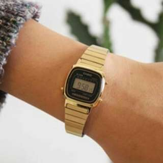 Original Casio gold for women LA670WGA-1D1