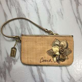 Authentic coach wristlet / clutch