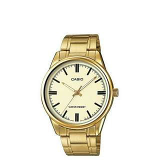 Casio Enticer Men's Gold Tone Plated Stainless Steel Strap Watch