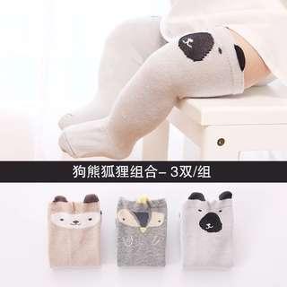 Pre-order Baby socks - dog, bear, fox - 0 to 1 years old