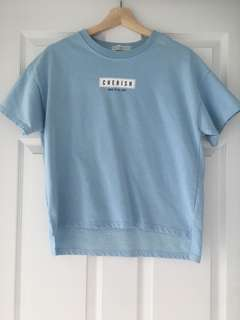 Korean Blue Tshirt