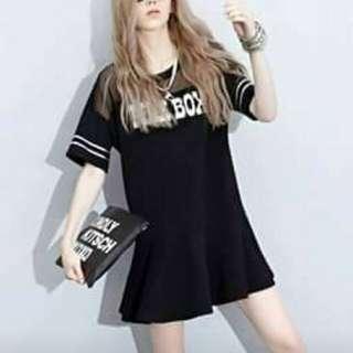 Korean style mesh top dress