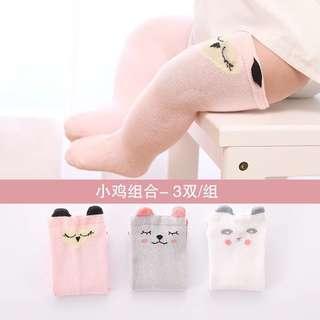 Pre-order baby socks - dog, bear, fox - 1-3 years old
