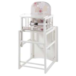 Children high chair and table combination
