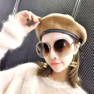 Chloé同款貴婦孫芸芸時尚大框復古墨鏡太陽眼鏡