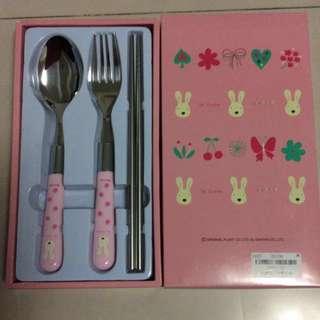 法國兔三件餐具組