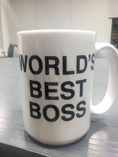 Mug cup with logo of 'WorldBestBoss'