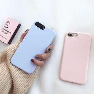 I6s 糖果色 藍色 手機殼 霧面