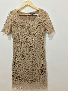 Nude Laced Dress
