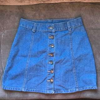 Brand New Denim Skirt Size: Medium