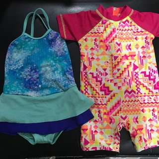 Swimsuit and rash guard