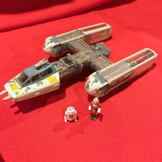 Star Wars Y-wing Gold Leader Classic Galoob Action Fleet Vintage 1995