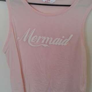 Pink Mermaid singlet (L)