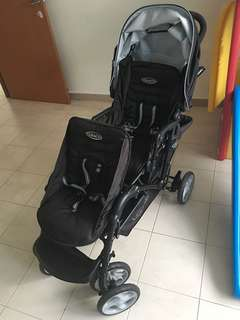 Graco double stroller   used only once  almost new !