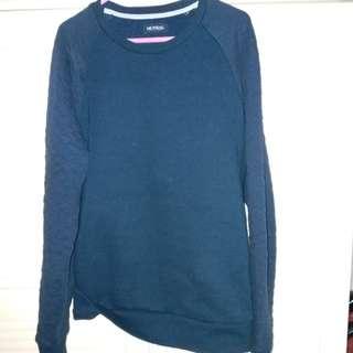 男裝 深藍長袖上衣 衫長26.75寸 闊19.5寸 中碼 size M