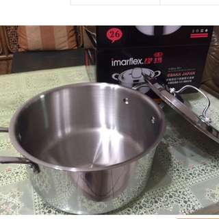 🚚 Imarfelx日本伊瑪不銹鋼雙耳湯鍋(降價)