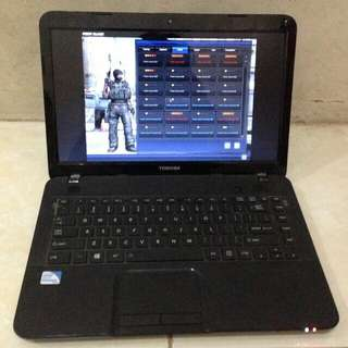 Laptop toshiba c800 hdd320gb ram2gb bonus flim dan bagus ok jaya selalu