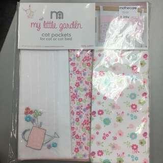 🆕 mothercare cot pockets 全新嬰兒床掛袋