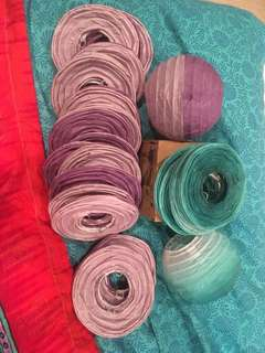 💚30 x Typo lanterns (20x purple, 10x green ombre)