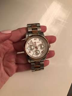 Michael Kors silver rose gold two-toned