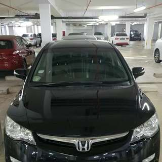 Weekend cheap car rental honda Civic 1.8A