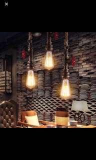 industrial pipe light black or retro colour