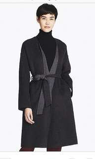Uniqlo Collarless Wool Coat