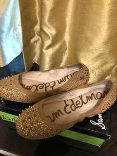 女裝猄皮魷魚平底鞋