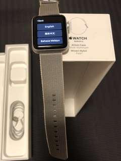 Apple Watch Series 2 42mm Silver Woven Nylon