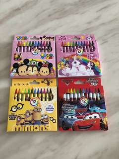 Goody bag (crayon) - kids party gift, goodies bag packages