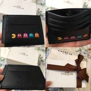 Coach x PacMan limited ed. card holder