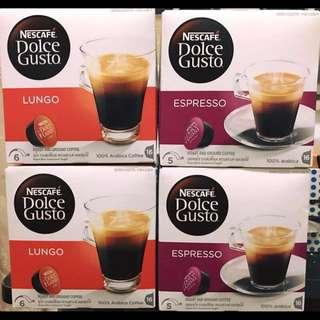 NESCAFÉ® Dolce Gusto 膠囊咖啡盒裝