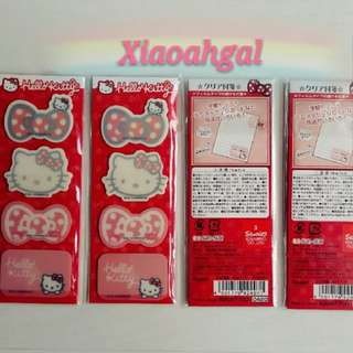 🔴$12.90➡ $8 FOLLOWERS ONLY!🔴**Those follow but unfollow, pls detour. Thks**🌟AUTHENTIC SANRIO ORIGINAL JAPAN🌟✔BRAND NEW IN PLASTIC✔(4 Designs many Pcs -Never Count, Thick) HELLO KITTY Post it/Book Markers/Page Labels!💋No Pet No Smoker Clean Hse💋