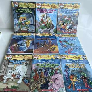 Geronimo Stilton books with plastic cover