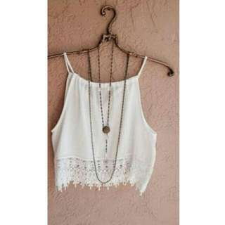 Women Summer Lace - Crop Top