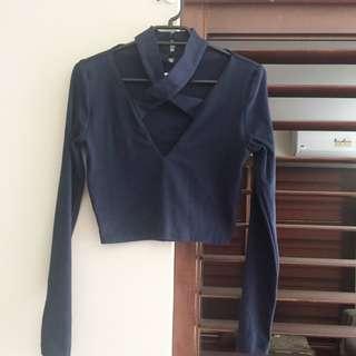 KOOKAI Long Sleeve Crop Top